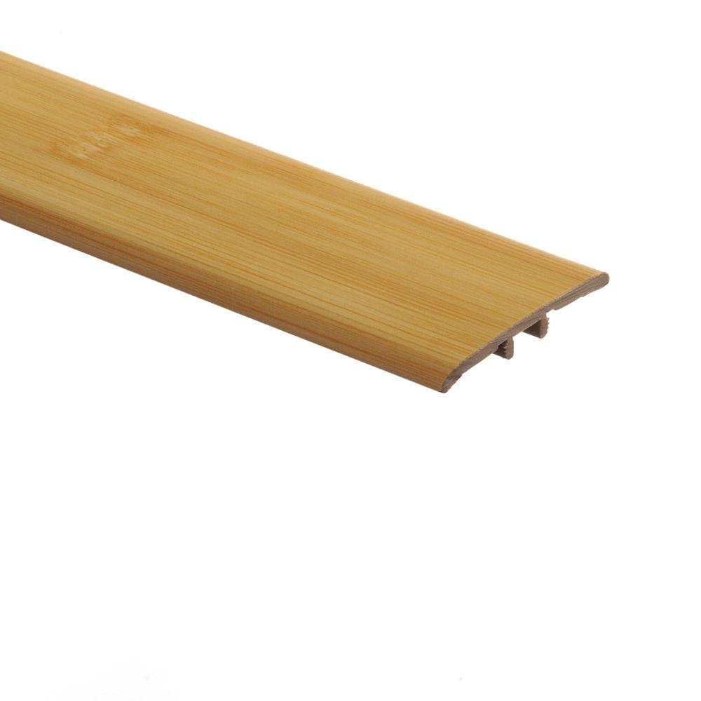 Zamma Traditional Bamboo-Light 5/16 in. Thick x 1-3/4 in. Wide x 72 in. Length Vinyl T-Molding