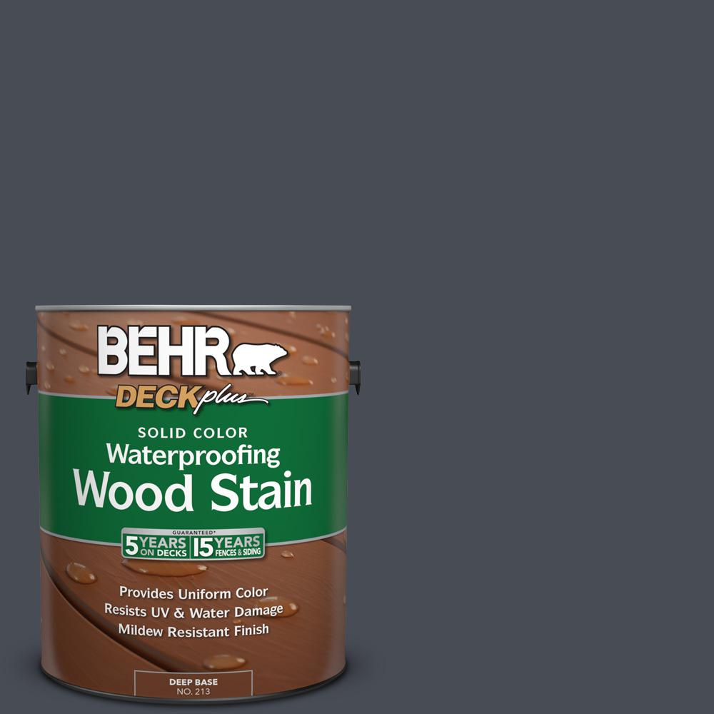 1 gal. #PPU15-20 Poppy Seed Solid Color Waterproofing Wood Stain