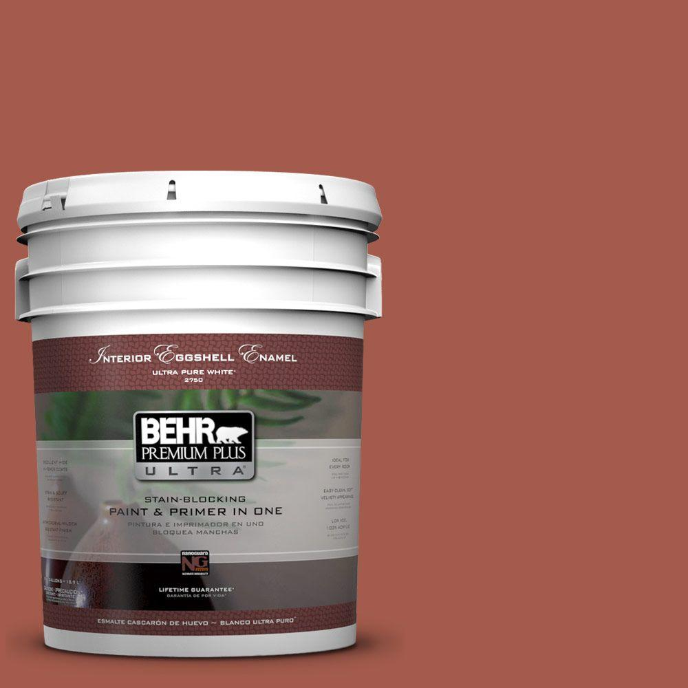 BEHR Premium Plus Ultra 5-gal. #PPU2-15 Cajun Red Eggshell Enamel Interior Paint