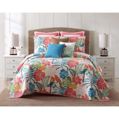 Coco Paradise 3-Piece Multicolored Floral Queen Comforter Set