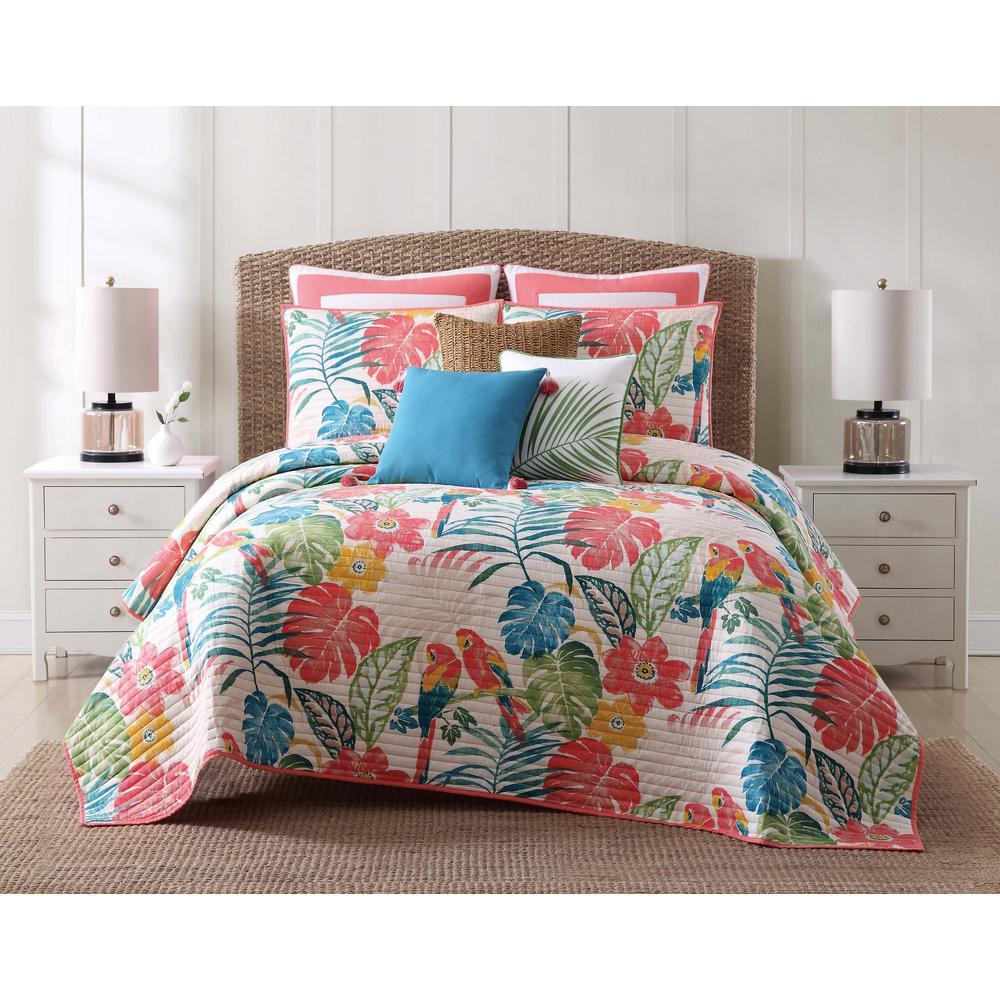 Coco Paradise 2-Piece Multicolored Floral Twin Comforter Set