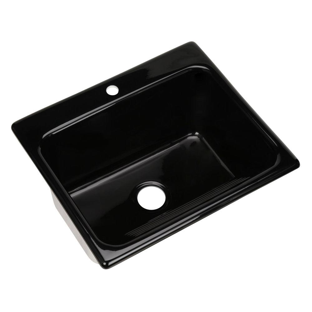 Kensington Drop-In Acrylic 25 in. 1-Hole Single Bowl Utility Sink in