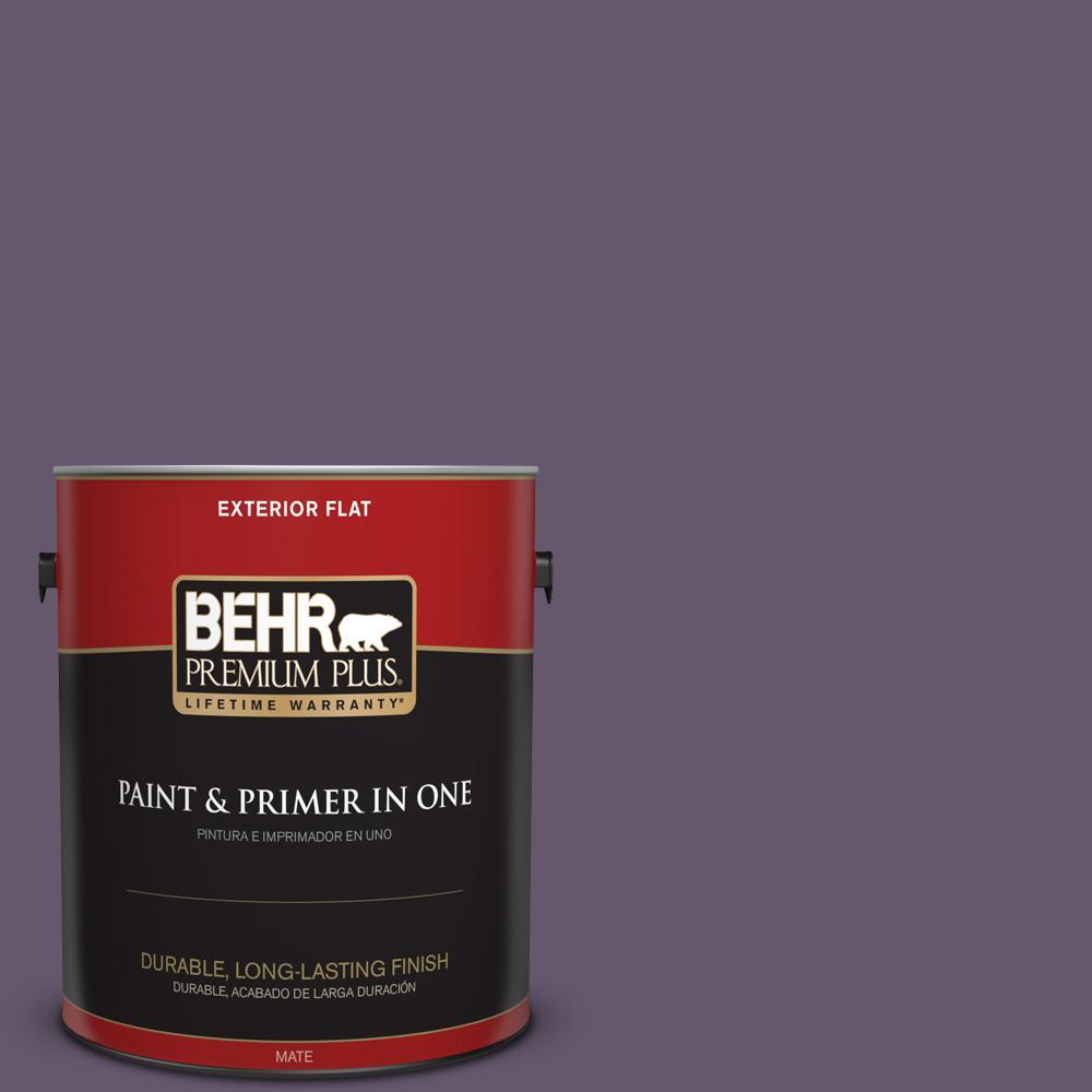 1 gal. #PPU17-04 Darkest Grape Flat Exterior Paint