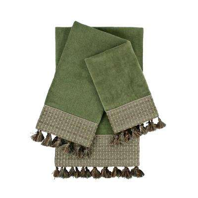 Meade Sage Embellished Towel Set (3-Piece)