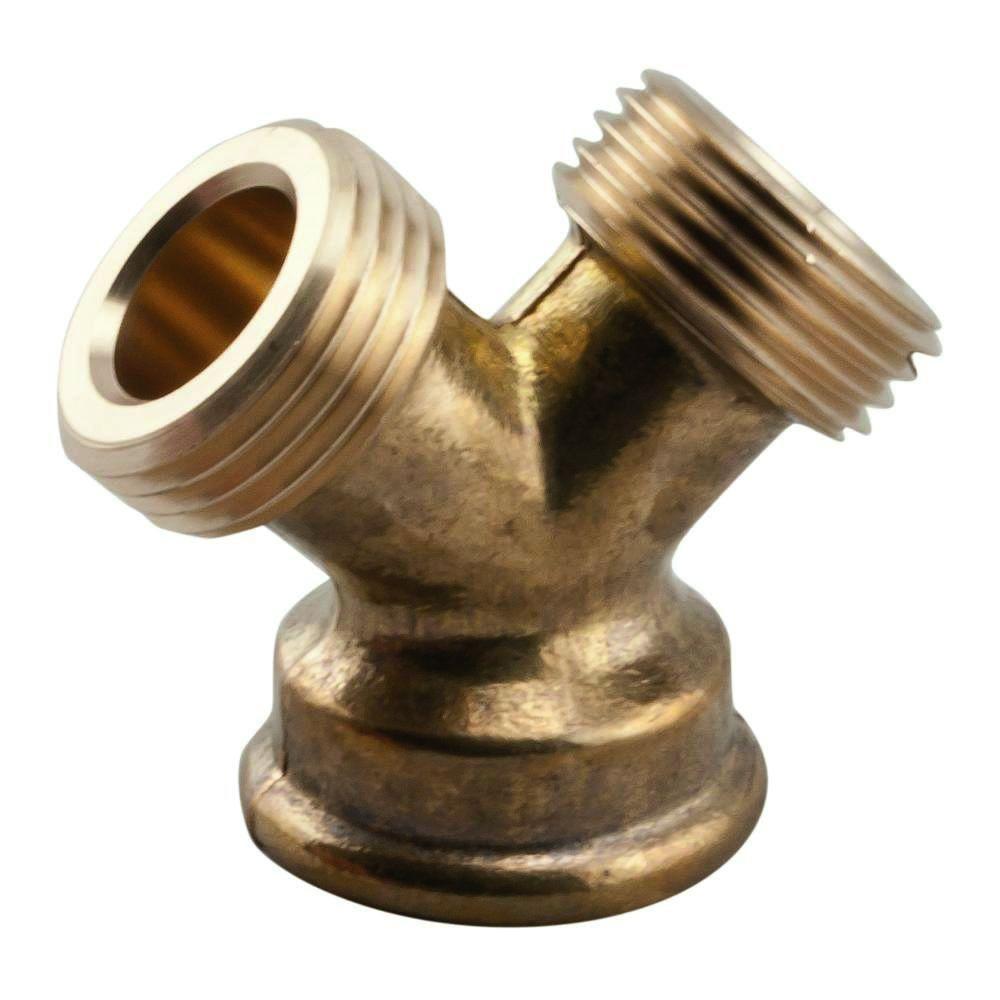 Lead Free Brass Garden Hose Wye 3/4 In. FGH X 3/