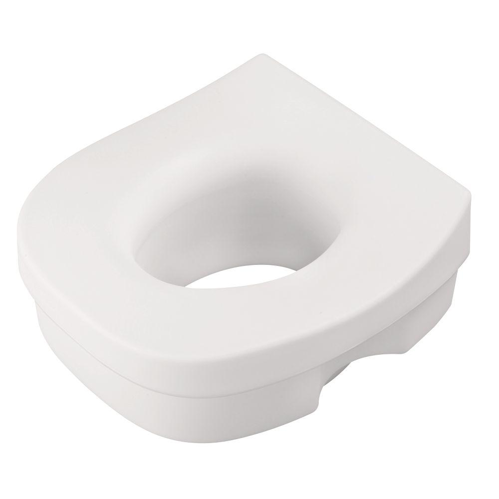 Delta Elevated Toilet Seat in White-DF570 - The Home Depot