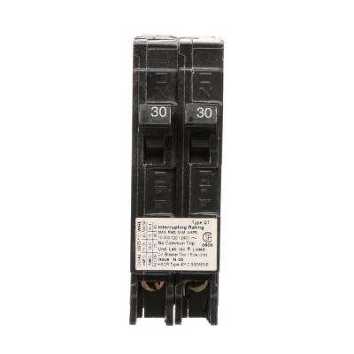 Two 30 Amp Single-Pole Circuit Breaker Non-Current Limiting