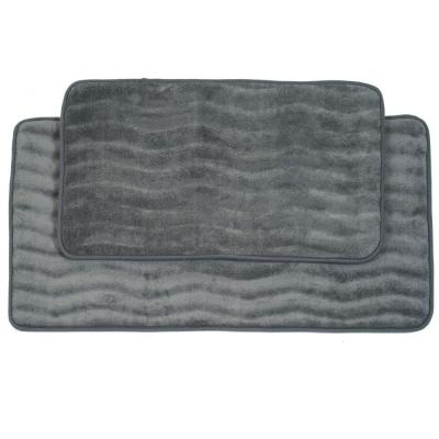 2-Piece Platinum Memory Foam Bath Mat Set