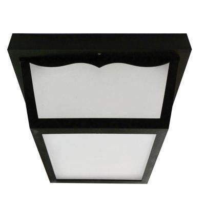 Multi-Use 1-Light Outdoor Black LED Flushmount Porch Fixture