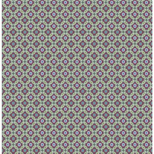 A-Street Audra Purple Floral Wallpaper Sample 2657-22246SAM