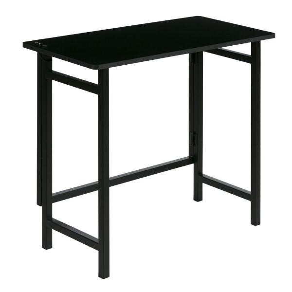 Dual Usb Black No Embly Compact Desk