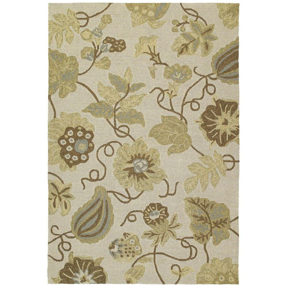 Kaleen Habitat Garden Harbor Linen 9 ft. x 12 ft. Indoor/Outdoor Area Rug