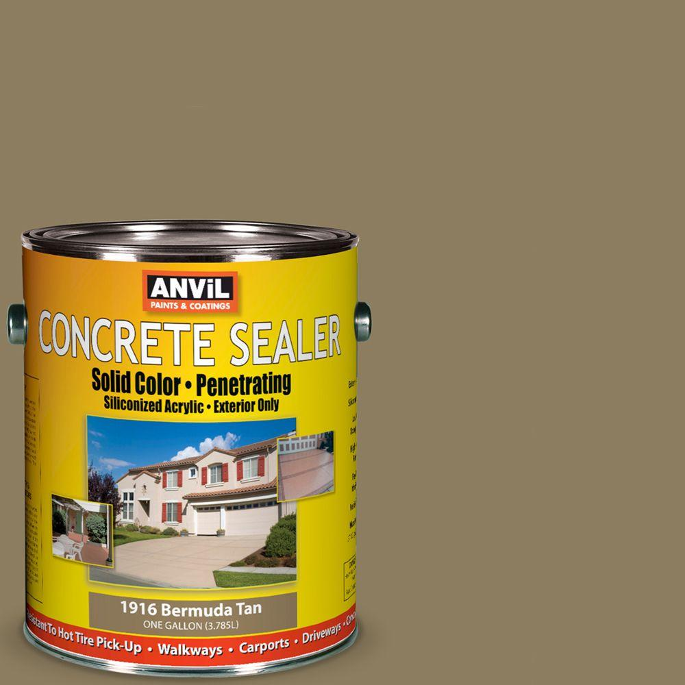 ANViL 1-gal. Bermuda Tan Siliconized Acrylic Solid Color Exterior Concrete Sealer-DISCONTINUED