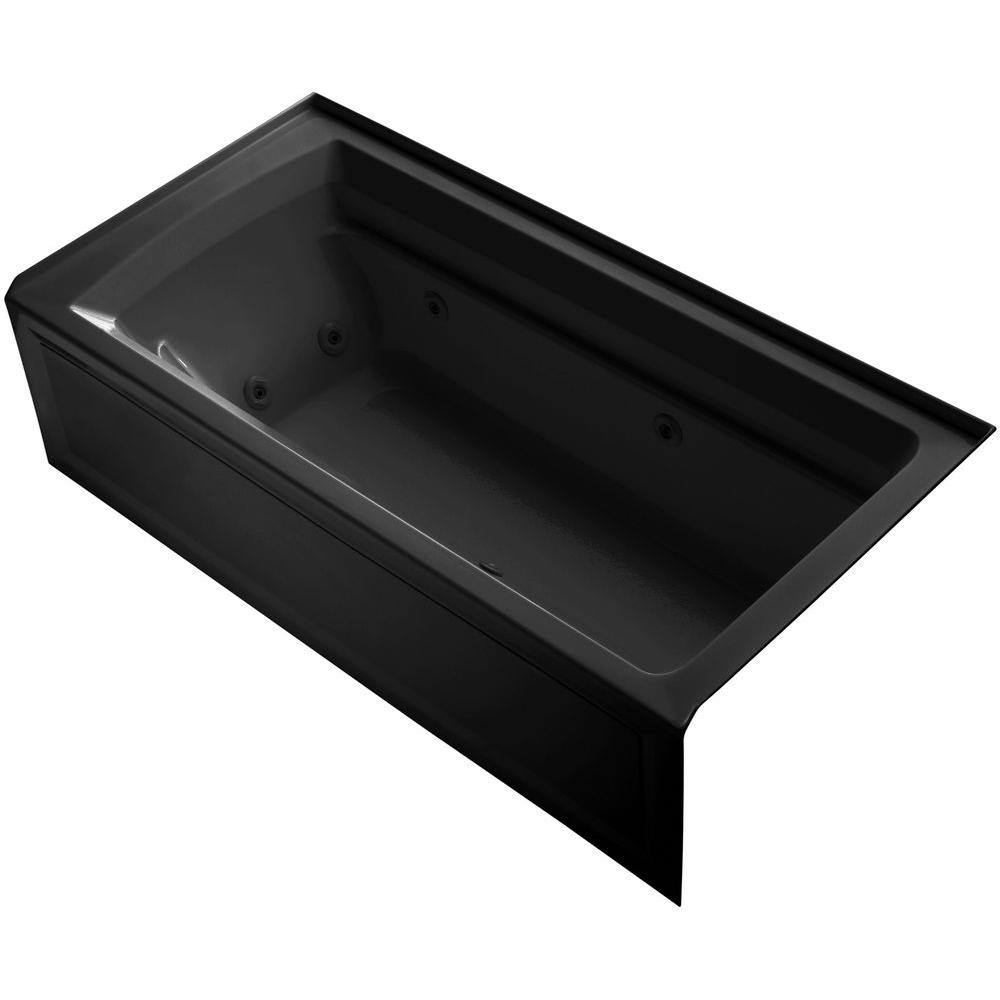 kohler archer 6 ft acrylic right drain rectangular alcove