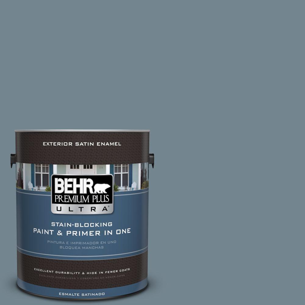 BEHR Premium Plus Ultra 1-gal. #N480-5 Adirondack Blue Satin Enamel Exterior Paint
