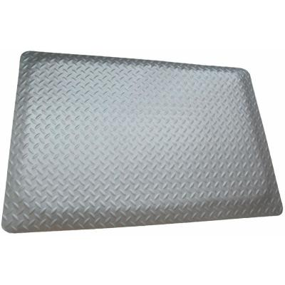 Diamond Plate Gray 4 ft. x 4 ft. x 15/16 in. Anti-Fatigue Commercial Mat