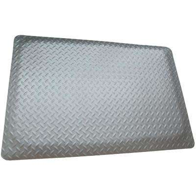 Diamond Plate Anti-fatigue Mat Gray 2 ft. x 12 ft. x 15/16 in. Commercial Mat