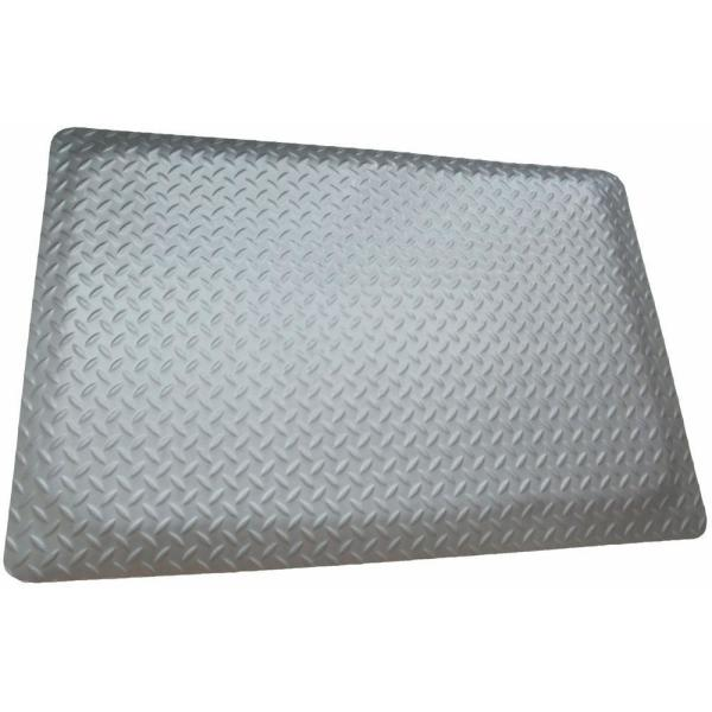 Diamond Plate Anti-fatigue Mat Gray 2 ft. x 4 ft. x 9/16 in. Commercial Mat