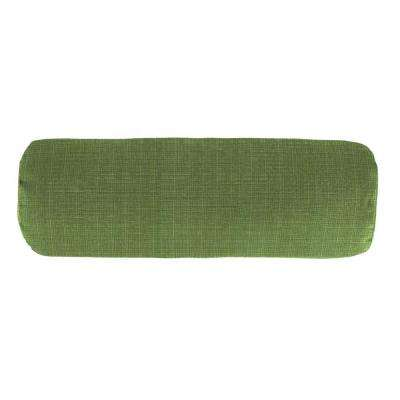 Sunbrella 7 in. x 20 in. Surge Cilantro Bolster Outdoor Pillow