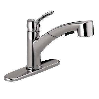 Collins Single-Handle Pull-Out Sprayer Kitchen Faucet in Chrome