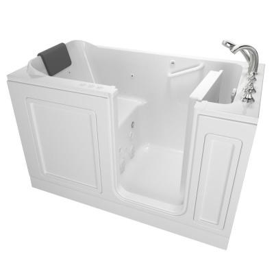 Acrylic Luxury 60 in. Right Hand Walk-In Whirlpool and Air Bathtub in White