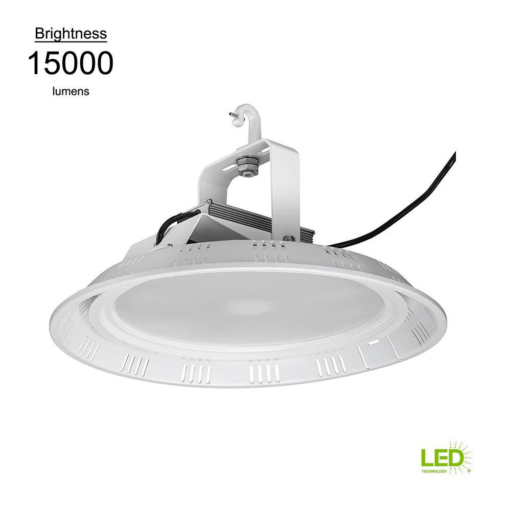 18 in. 400-Watt Equivalent White Integrated LED Round High Bay (28-Pack)