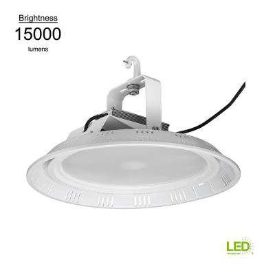 18 in. Round White 400w HID Equivalent 15000 Lumen Integrated LED High Bay (Motion Sensor Compatible) (28 Pack)