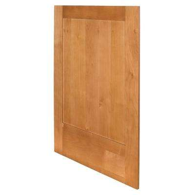 Hargrove Assembled 24 x 34.5 x .75 in. Hargrove Matching Base End Panel in Cinnamon