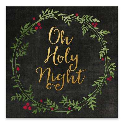 """Oh Holy Night"" by Lot26 Studio Foil Embellished Canvas Wall Art"
