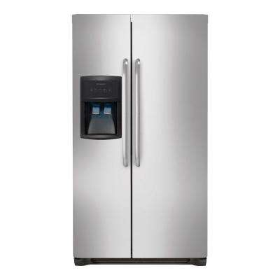 33 in. 22.1 cu. ft. Side by Side Refrigerator in Stainless Steel