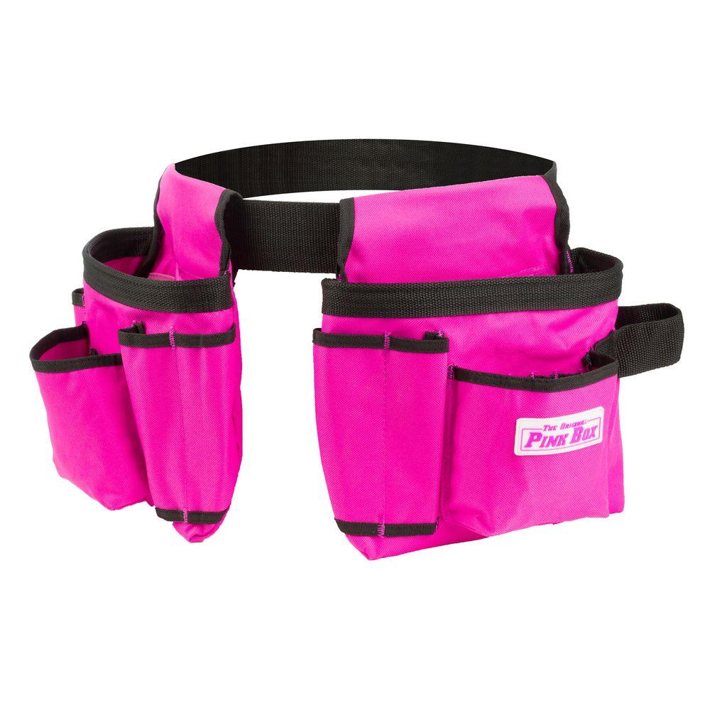 The Original Pink Box 2-Pouch Tool Belt in Pink