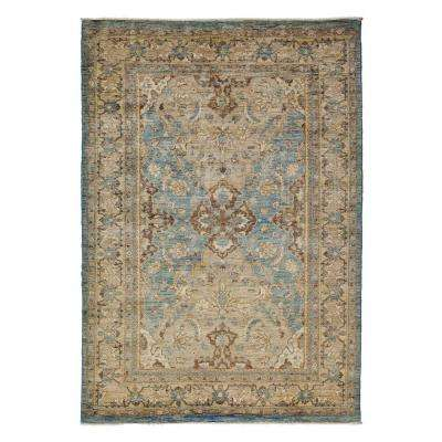 Oushak Blue 6 ft. x 9 ft. Indoor Area Rug