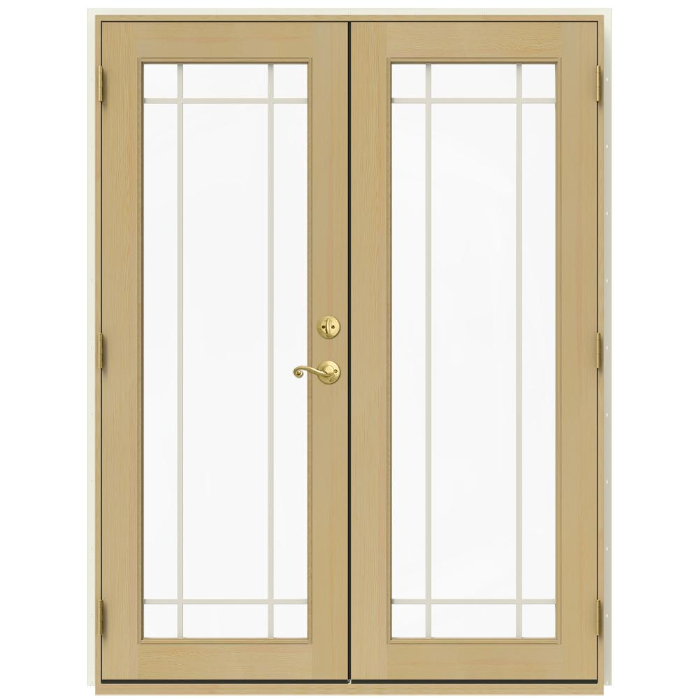 JELD WEN 59.5 In. X 79.5 In. W 2500 French Vanilla Right