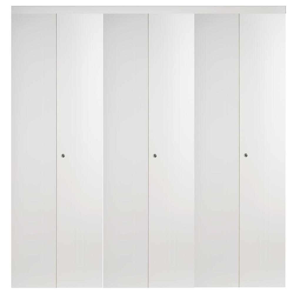 Superbe 108 In. X 96 In. Smooth Flush White Solid Core MDF