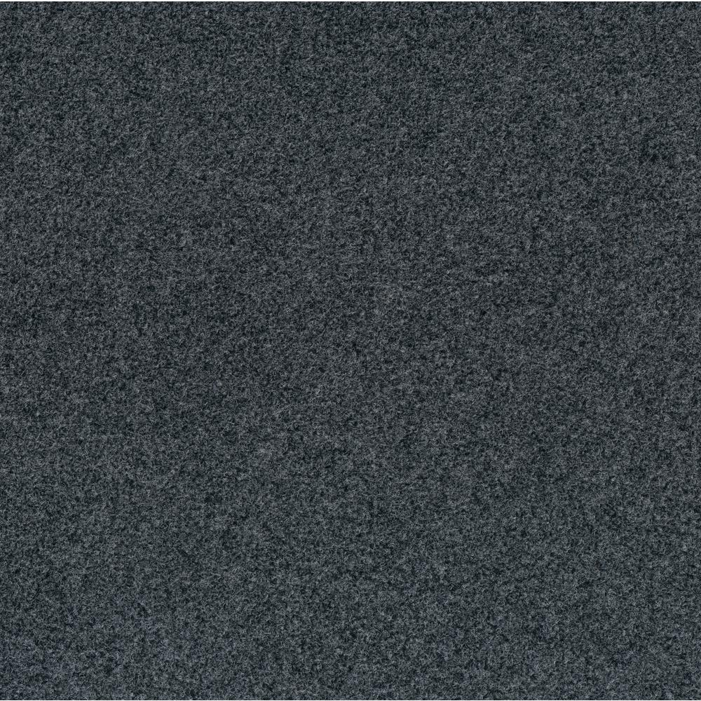 Foss Premium Self-Stick Grizzly Grass Color Slate Grey 24 in. x 24 in. Indoor/Outdoor Carpet Tiles (15 Tiles/60 sq. ft./case)
