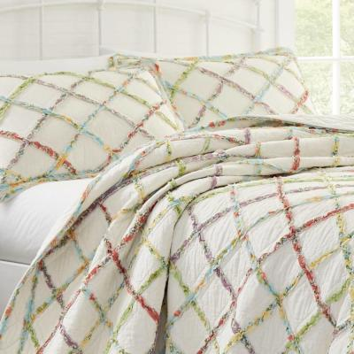 Ruffle Garden Floral 136-Thread Count Cotton Quilt