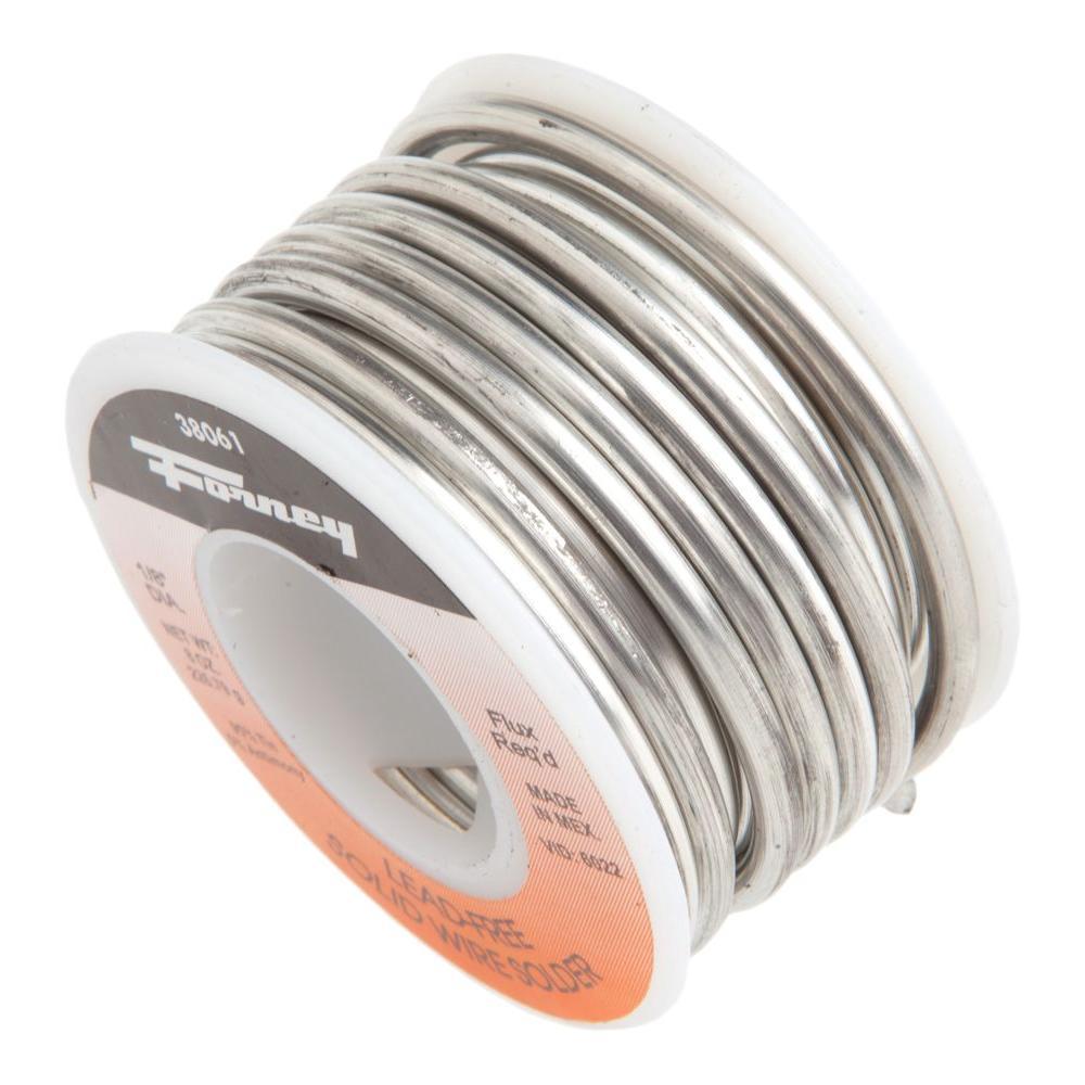 1/8 in. 1/2 lb. Lead Free Solder 95/5 Tin Antimony