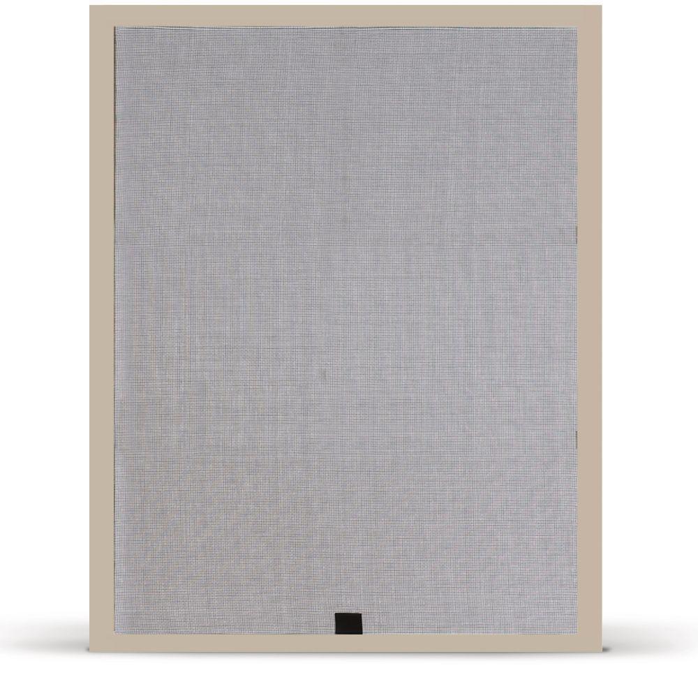 33.375 in. x 56.5 in. Desert Sand Aluminum Framed Window Screen with Fiberglass Mesh Insect Screen