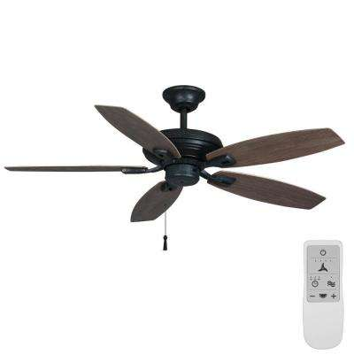 North Pond 52 in. Aged Silver Wi-Fi Enabled Smart Ceiling Fan with Remote - Works with Google Assistant and Alexa