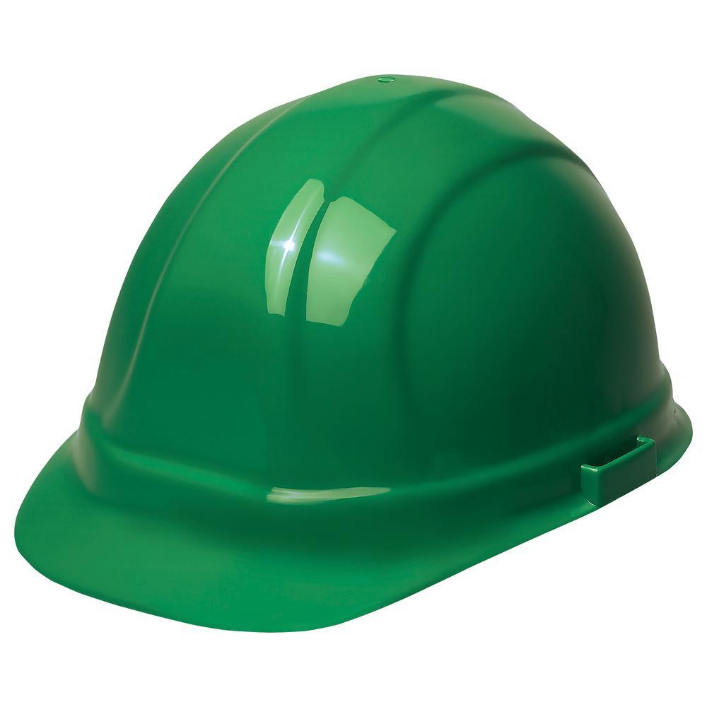 Omega II 6 Point Suspension Nylon Mega Ratchet Cap Hard Hat in Green