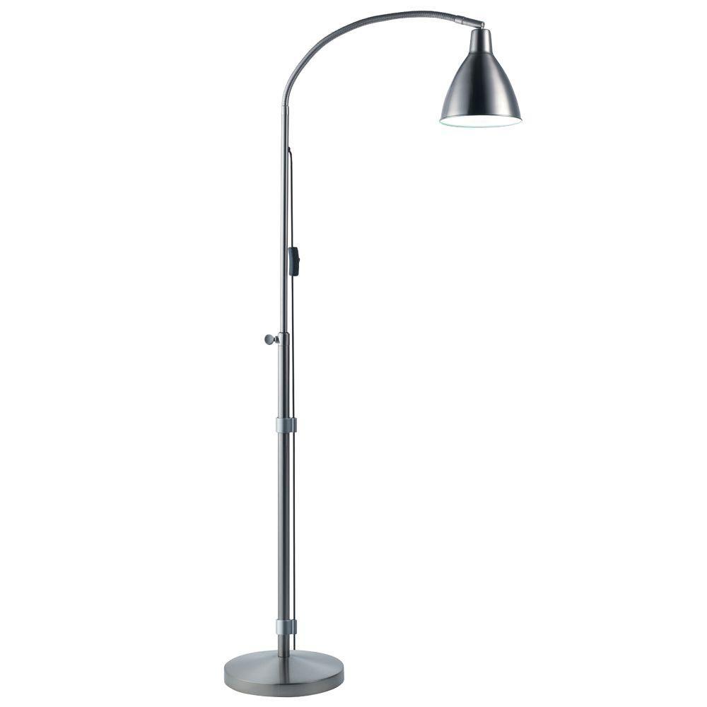 55 in. Silver Flexi-Vision Floor Lamp