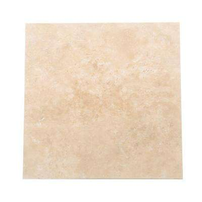Travertine Durango 16 in. x 16 in. Natural Stone Floor and Wall Tile (10.68 sq. ft. / case)