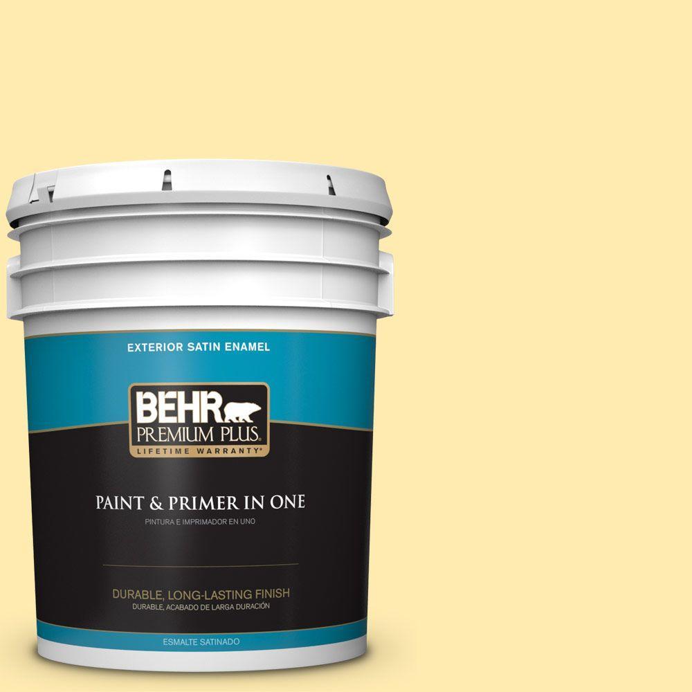 BEHR Premium Plus 5-gal. #360A-3 Banana Split Satin Enamel Exterior Paint