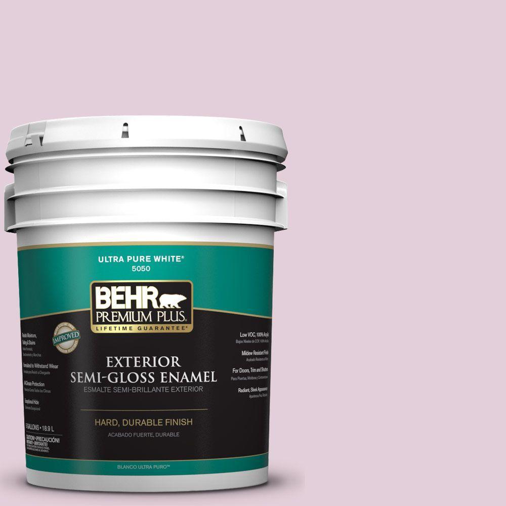 BEHR Premium Plus 5-gal. #S120-2 Etiquette Semi-Gloss Enamel Exterior Paint