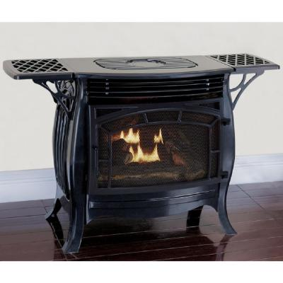 26,000 BTU Ventless Dual Fuel Stove with Remote Control in Gloss