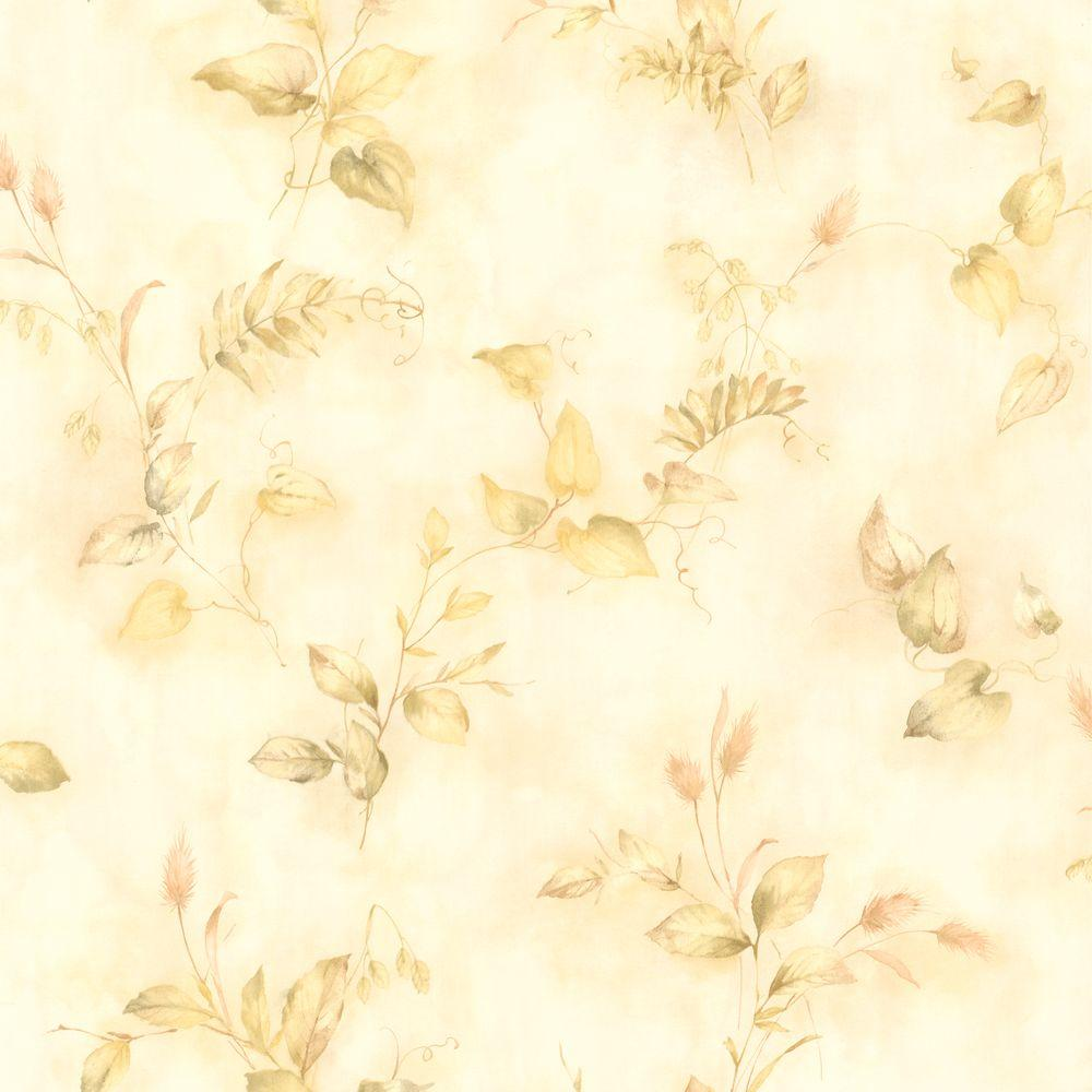 null Congedi Light Green Leaf Sprigs Wallpaper