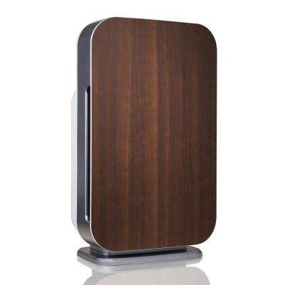 Customizable Air Purifier with HEPA-Pure Filter to Remove Allergies and Dust in Espresso
