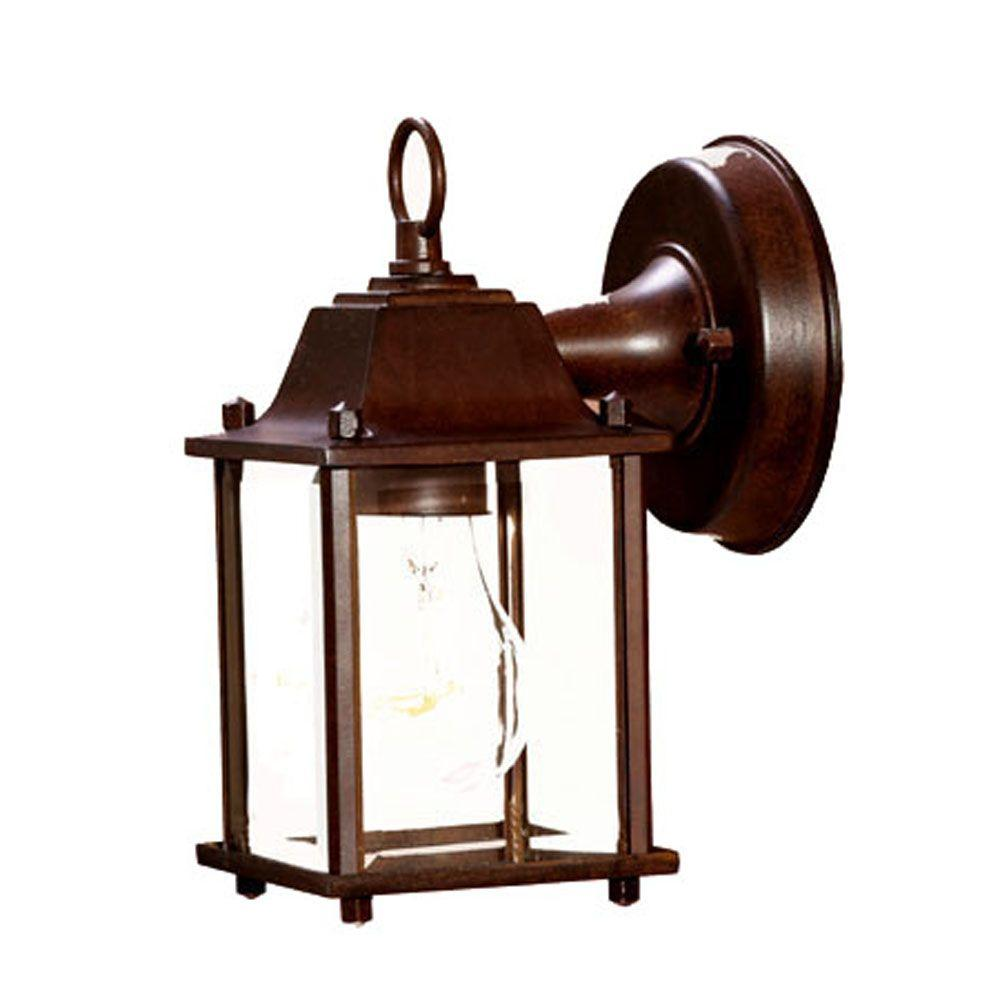 Builder's Choice Collection 1-Light Burled Walnut Outdoor Wall-Mount Light