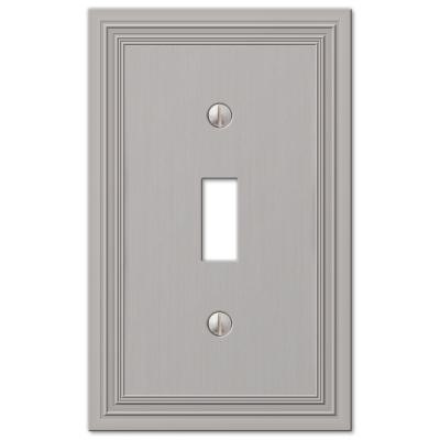 Hallcrest 1 Gang Toggle Metal Wall Plate - Satin Nickel