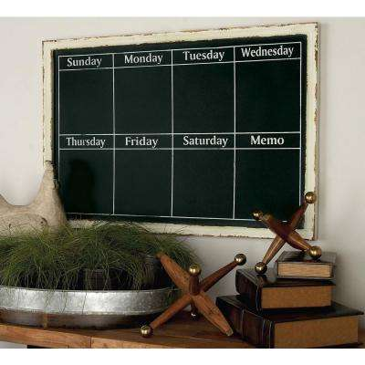 36 in. x 24 in. Farmhouse Blackboard with White Fir Frame Wall Decor
